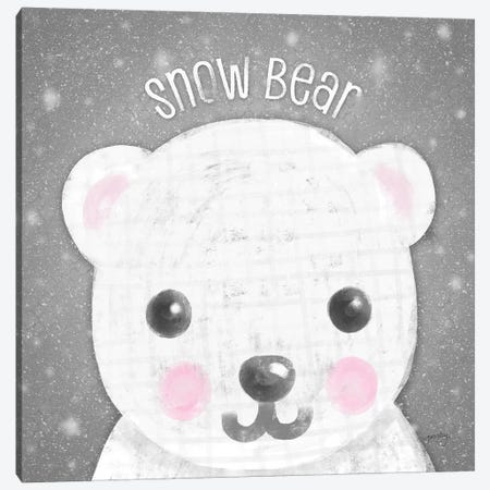 Snow Buddies I Canvas Print #NDD78} by Noonday Design Canvas Wall Art