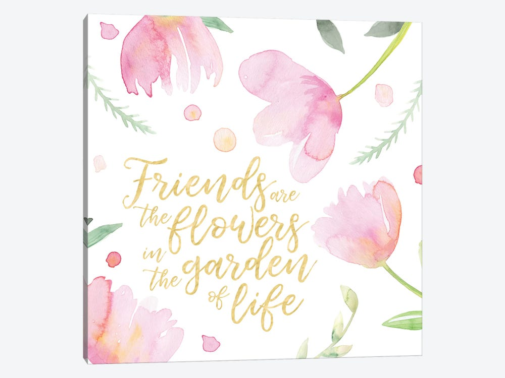 Soft Pink Flowers Friends II by Noonday Design 1-piece Canvas Art Print