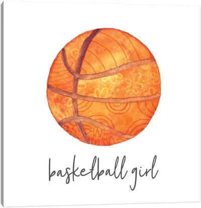 Sports Girl Basketball Canvas Art Print