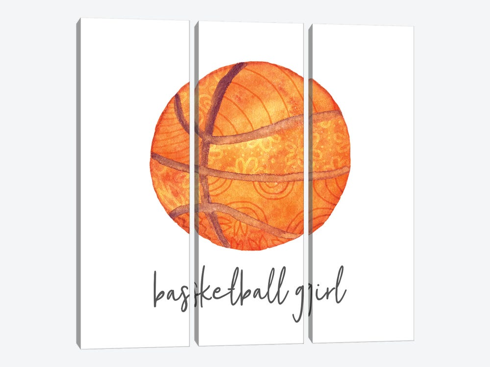 Sports Girl Basketball 3-piece Canvas Artwork