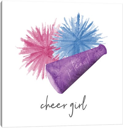 Sports Girl Cheer Canvas Art Print