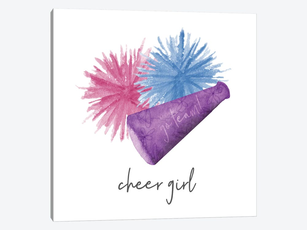 Sports Girl Cheer by Noonday Design 1-piece Art Print