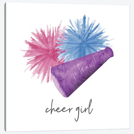 Sports Girl Cheer 3-Piece Canvas #NDD85} by Noonday Design Canvas Art