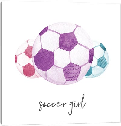 Sports Girl Soccer Canvas Art Print