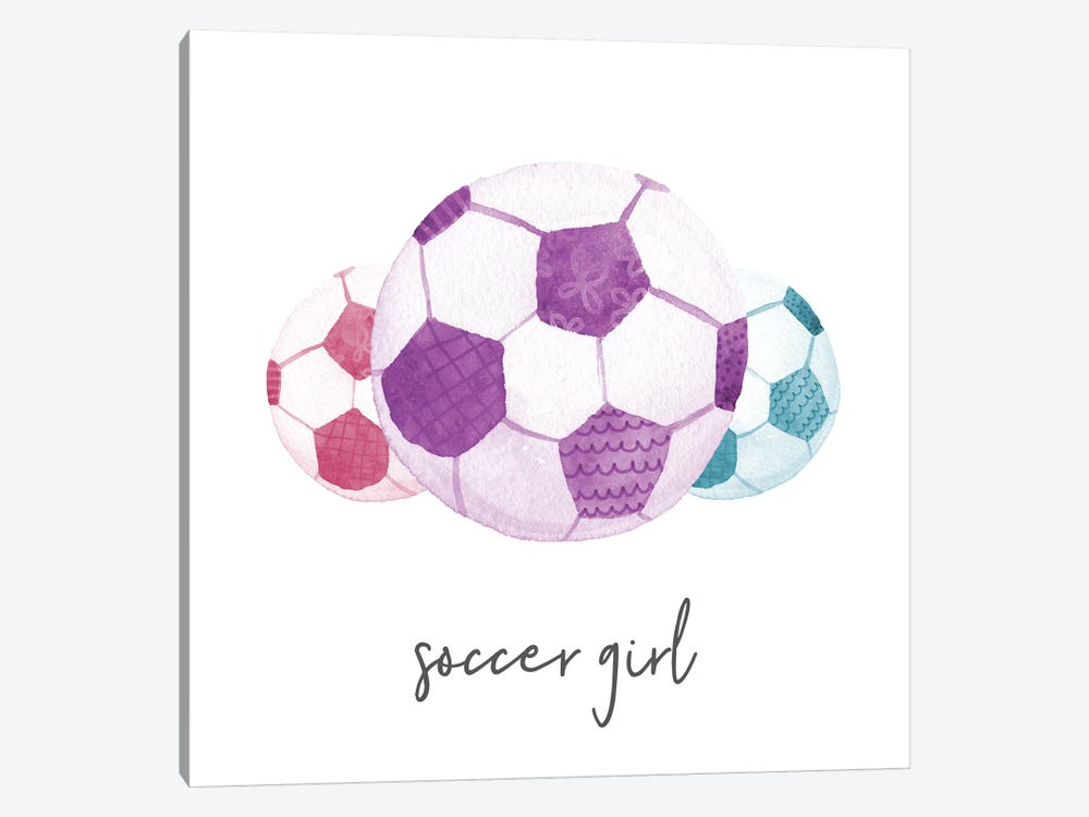 Sports Girl Soccer by Noonday Design 1-piece Canvas Artwork