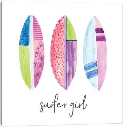 Sports Girl Surfer Canvas Art Print