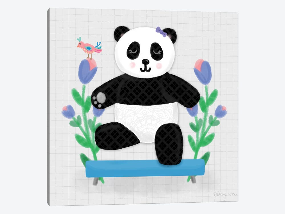 Tumbling Pandas I by Noonday Design 1-piece Canvas Art