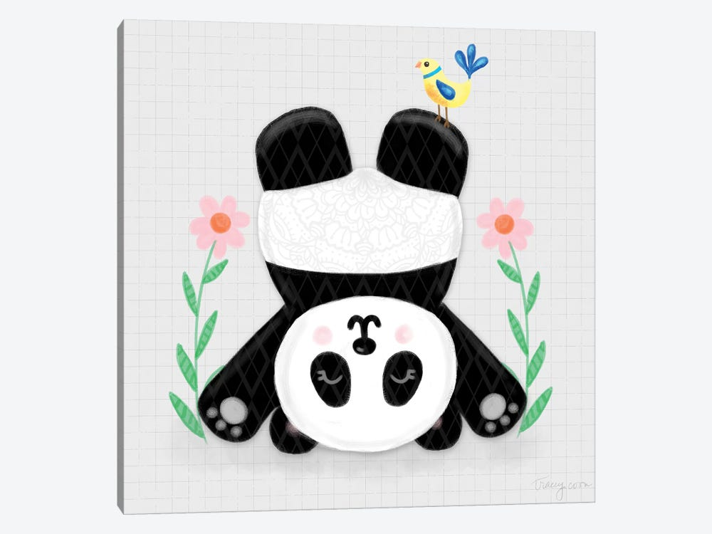 Tumbling Pandas II by Noonday Design 1-piece Canvas Print