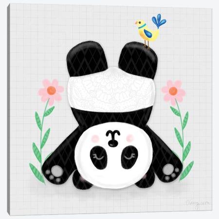 Tumbling Pandas II Canvas Print #NDD89} by Noonday Design Canvas Art Print