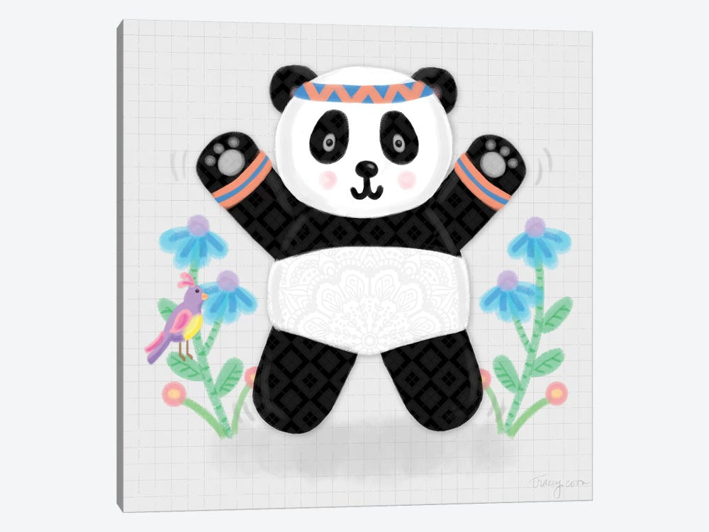Tumbling Pandas III by Noonday Design 1-piece Canvas Print