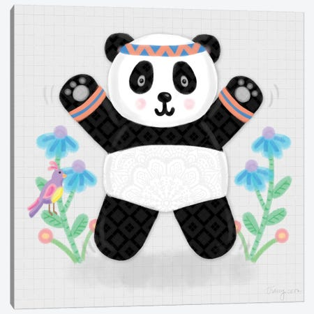 Tumbling Pandas III 3-Piece Canvas #NDD90} by Noonday Design Canvas Art
