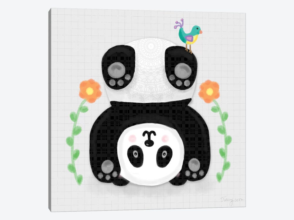 Tumbling Pandas IV by Noonday Design 1-piece Canvas Artwork
