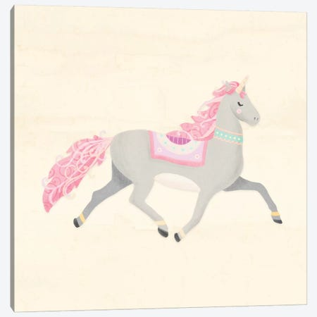Unicorn Pastel I Canvas Print #NDD92} by Noonday Design Canvas Artwork