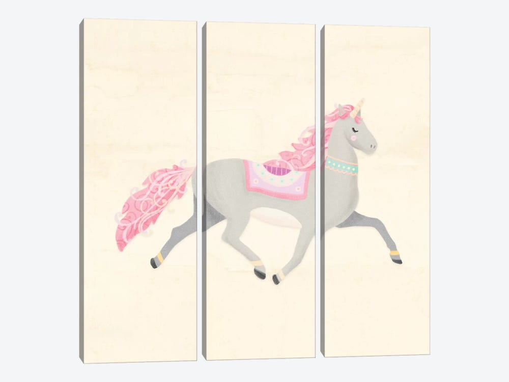 Unicorn Pastel I by Noonday Design 3-piece Canvas Art Print