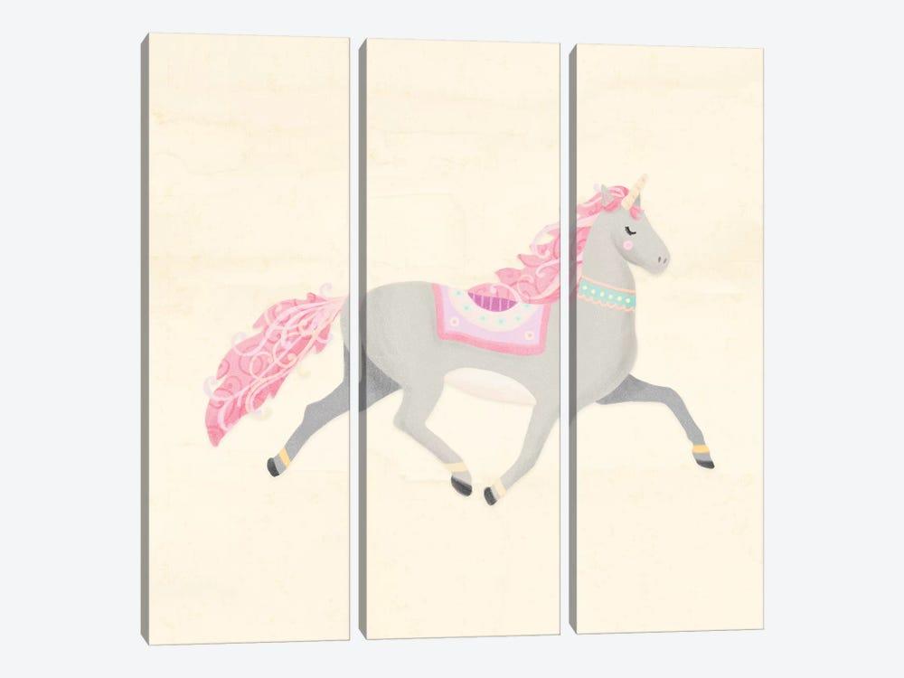 Unicorn Pastel I by Noonday Design 3-piece Canvas Art Print