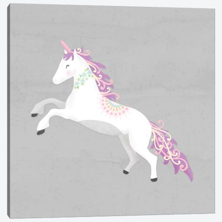 Unicorn Pastel II Canvas Print #NDD93} by Noonday Design Canvas Wall Art