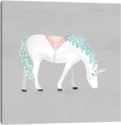 Unicorn Pastel III Canvas Art Print