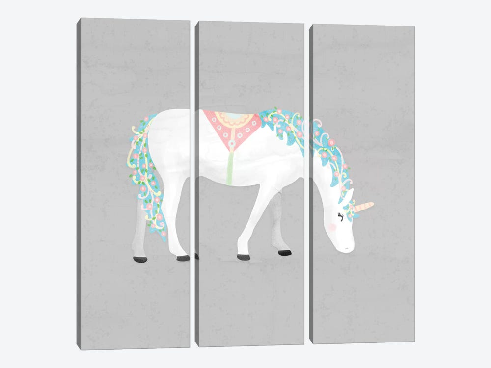 Unicorn Pastel III by Noonday Design 3-piece Canvas Print