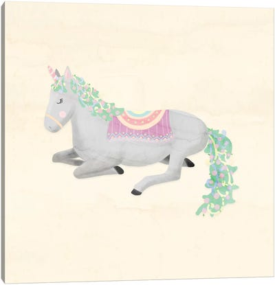 Unicorn Pastel IV Canvas Art Print