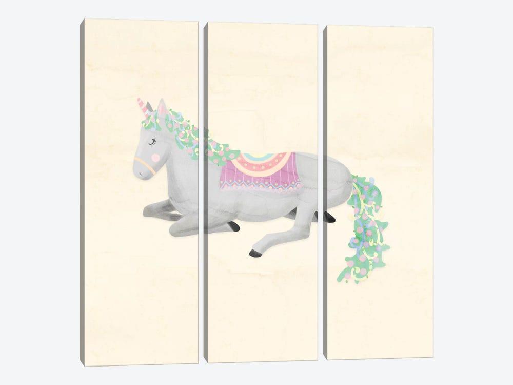 Unicorn Pastel IV by Noonday Design 3-piece Canvas Art
