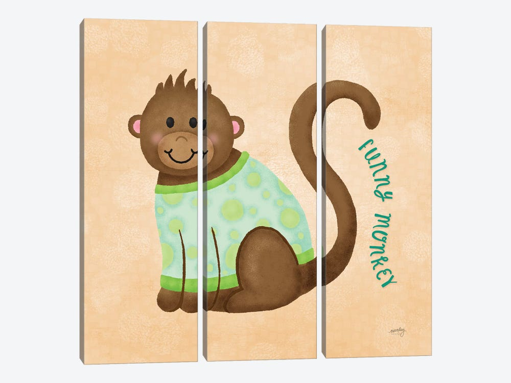 Baby Safari IV by Noonday Design 3-piece Canvas Wall Art