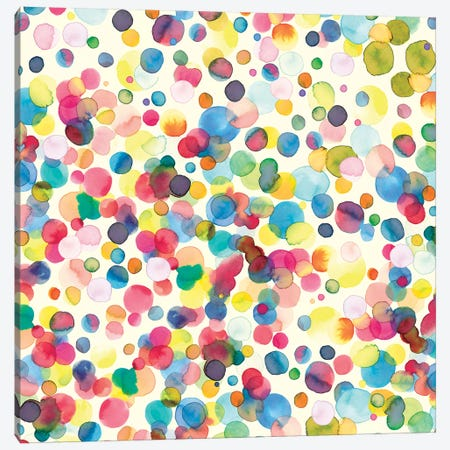 Watercolor Drops Canvas Print #NDE100} by Ninola Design Canvas Artwork