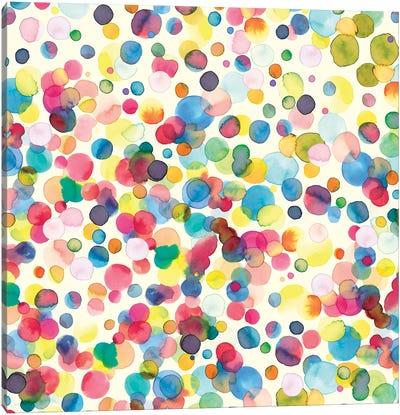 Watercolor Drops Canvas Art Print