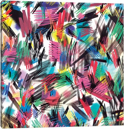 Wild Strokes Colorful Canvas Art Print