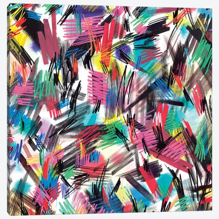 Wild Strokes Colorful Canvas Print #NDE104} by Ninola Design Canvas Print