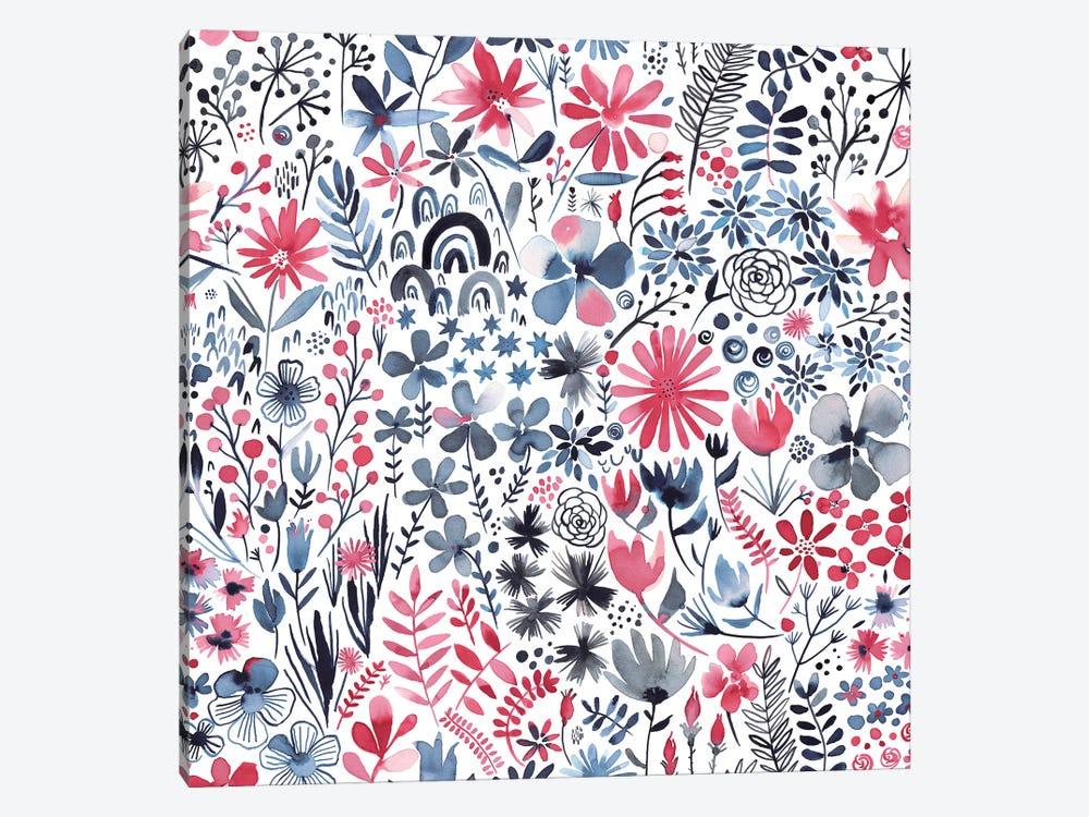Winter Ink Flowers by Ninola Design 1-piece Canvas Art