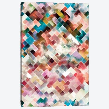 Moody Geometry Multi White Canvas Print #NDE109} by Ninola Design Canvas Wall Art