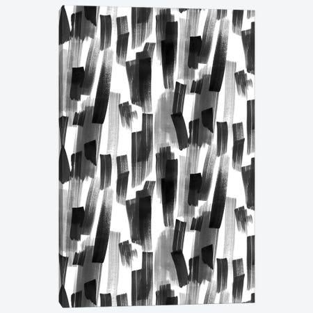 Big Brushstrokes Black Canvas Print #NDE117} by Ninola Design Canvas Art