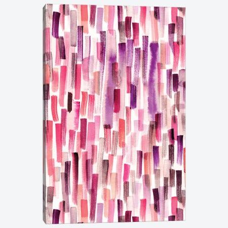 Watercolor Brushstrokes Coral Purple Canvas Print #NDE125} by Ninola Design Canvas Print