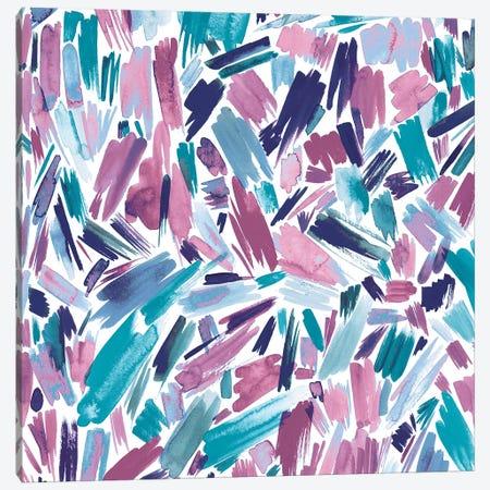Artsy Abstract Strokes Mauve Canvas Print #NDE12} by Ninola Design Canvas Art Print