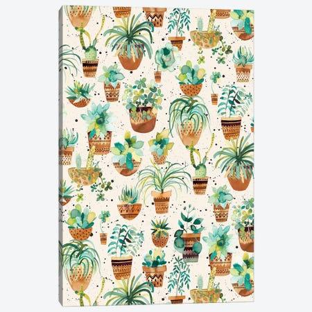 Home Succulent Plant Pots Cream Canvas Print #NDE139} by Ninola Design Canvas Print
