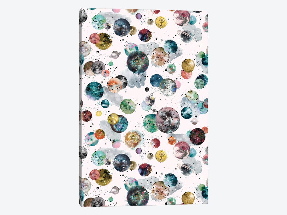 Cosmic Space Planets And Stars Multicolored by Ninola Design 1-piece Art Print