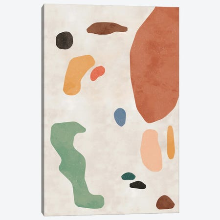 Organic Thin Shapes Canvas Print #NDE159} by Ninola Design Art Print