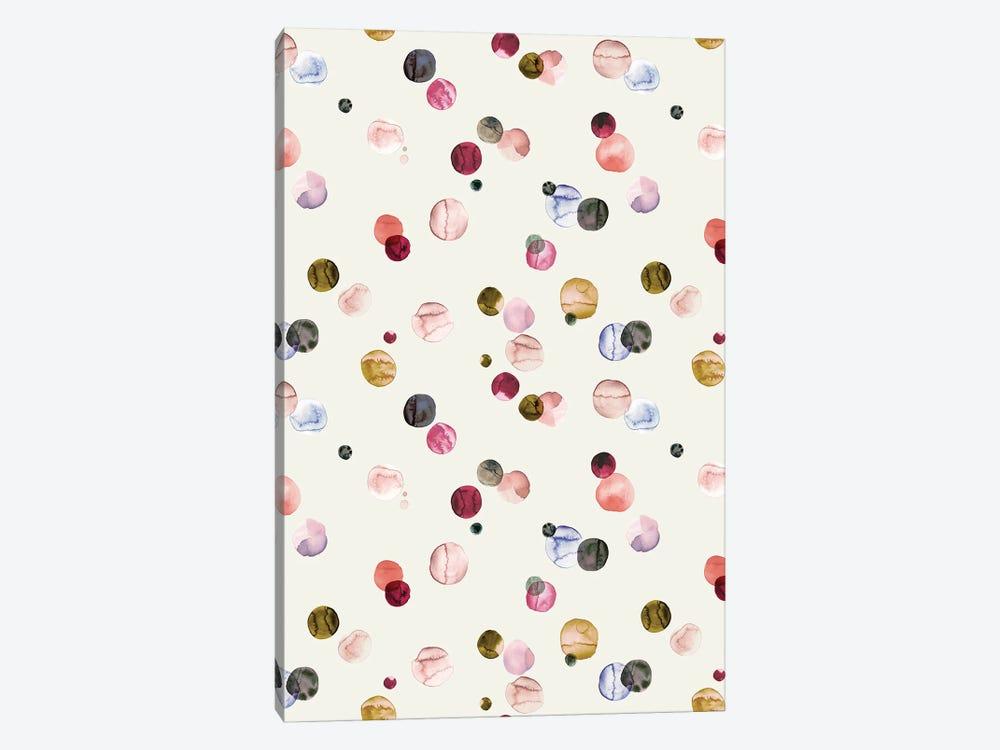 Watercolor Dots Multi by Ninola Design 1-piece Art Print