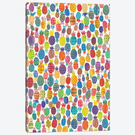 Cute Pineapples Canvas Print #NDE163} by Ninola Design Canvas Artwork