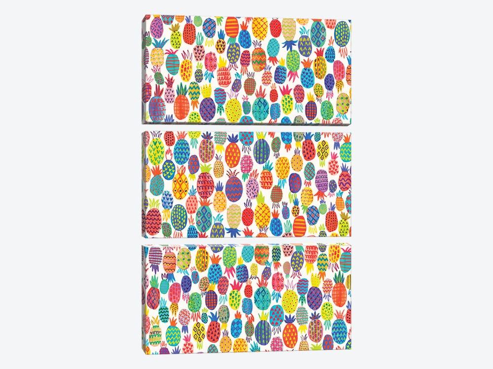 Cute Pineapples by Ninola Design 3-piece Canvas Art
