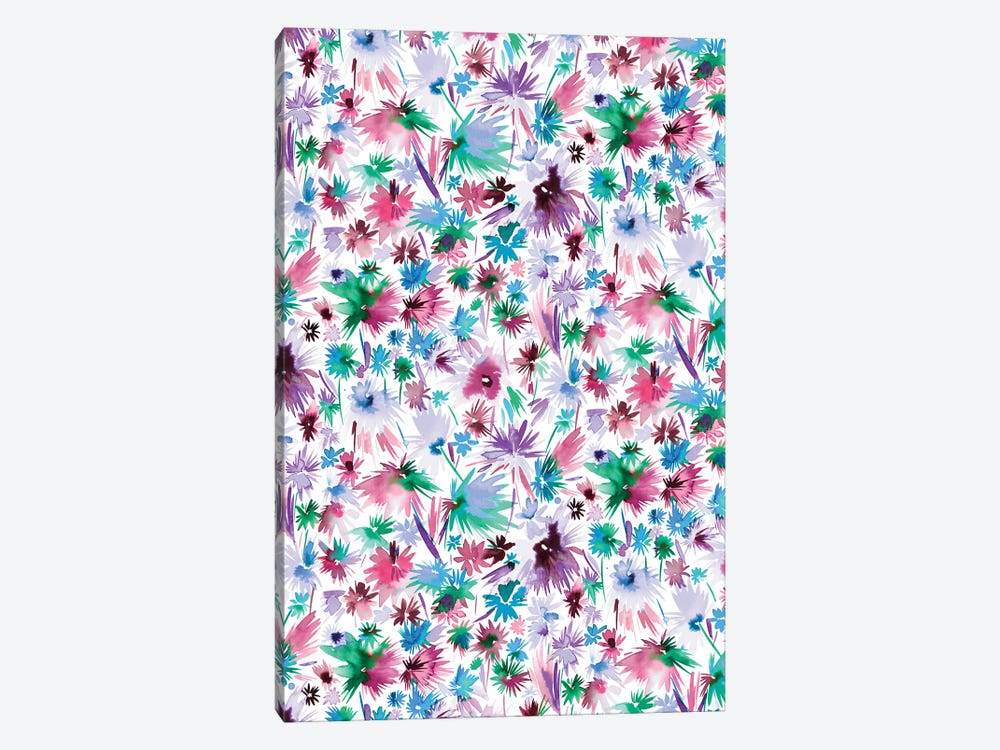 Abstract Jungle Flowers Colors by Ninola Design 1-piece Canvas Wall Art