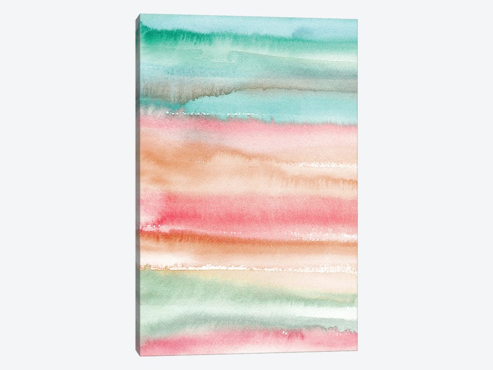 Gradient Watercolor Summer by Ninola Design 1-piece Canvas Art Print