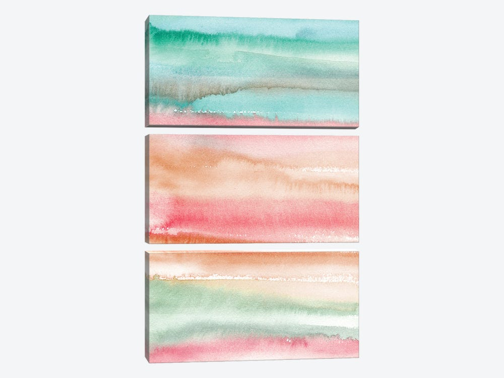Gradient Watercolor Summer by Ninola Design 3-piece Canvas Art Print