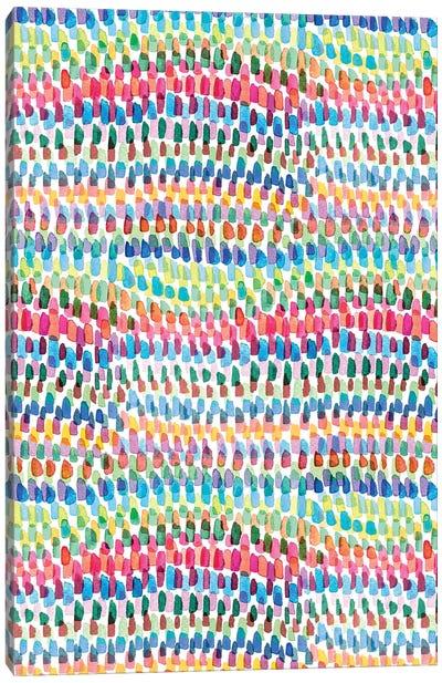 Artsy Strokes Stripes Colorful Canvas Art Print