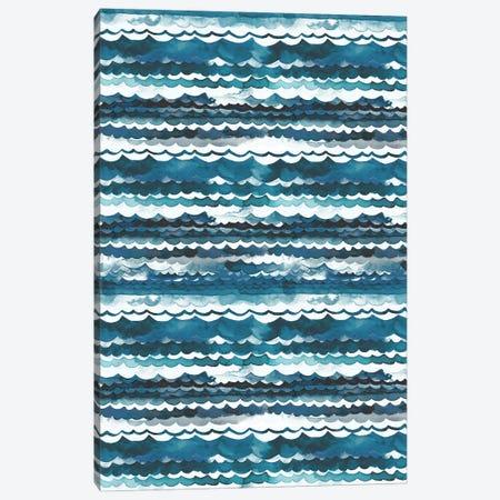 Beach Sea Waves Canvas Print #NDE172} by Ninola Design Canvas Art Print