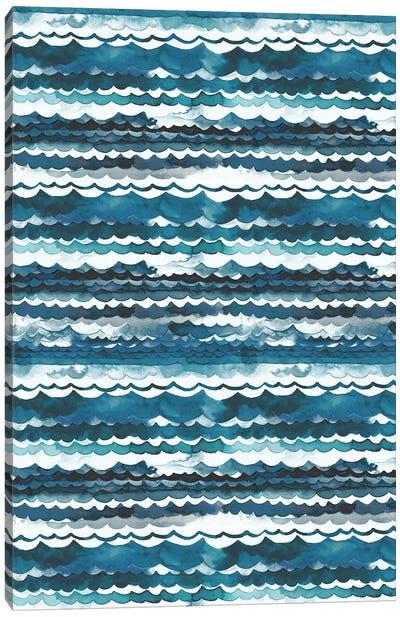 Beach Sea Waves Canvas Art Print