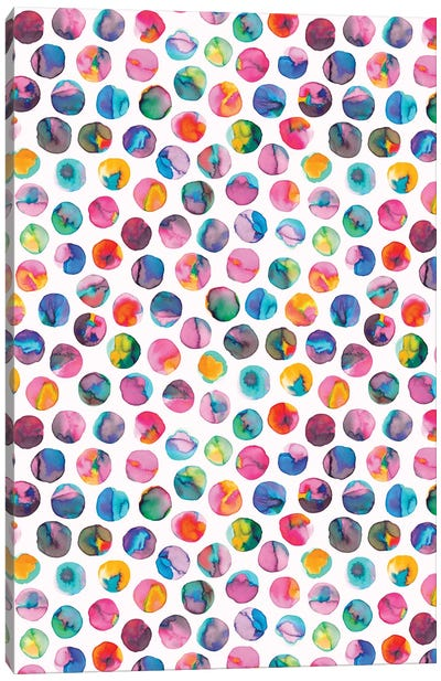 Colorful Ink Marbles Dots Multicolored Canvas Art Print