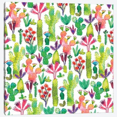 Cacti Garden Canvas Print #NDE17} by Ninola Design Canvas Wall Art