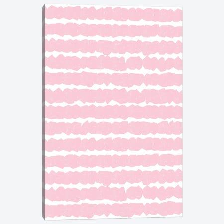 Geometric Lines Pink Canvas Print #NDE180} by Ninola Design Canvas Artwork