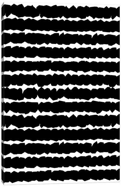 Geometric Lines Monochromatic Black Canvas Art Print